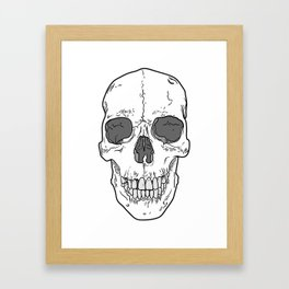 Big Ol' Skull Framed Art Print