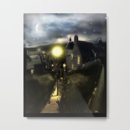 "Dysart in Scotland: ""Hie Gait"" Architecture Art Print [2014 Night version] Metal Print"