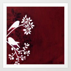 Perching Birds by Friztin Art Print
