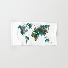 Map of the World tree Hand & Bath Towel
