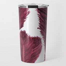 Feather Collection - bordeux Travel Mug
