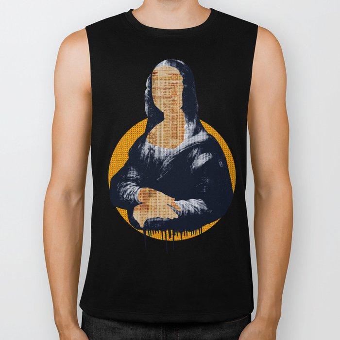 Mona Lisa · yellow press Biker Tank