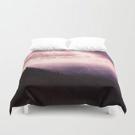 Purple Mountian Duvet Cover