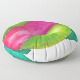 180819 Geometrical Watercolour 2  | Colorful Abstract | Modern Watercolor Art Floor Pillow
