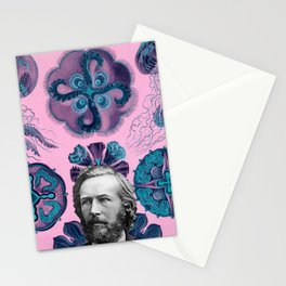 Trippy Haeckel Vibes Under the Sea Stationery Cards