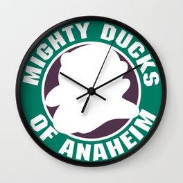 mighty ducks Wall Clock