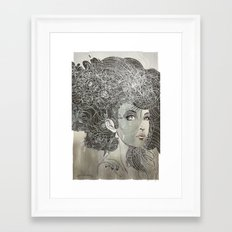 She Wants Clouds Framed Art Print