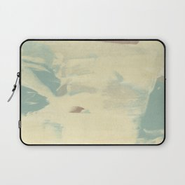 Blue & Cream Monoprint Laptop Sleeve