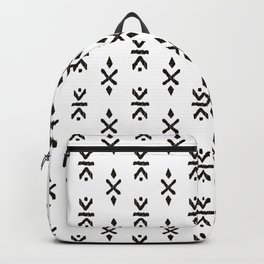 Black and white indian boho summer ethnic arrows Backpack