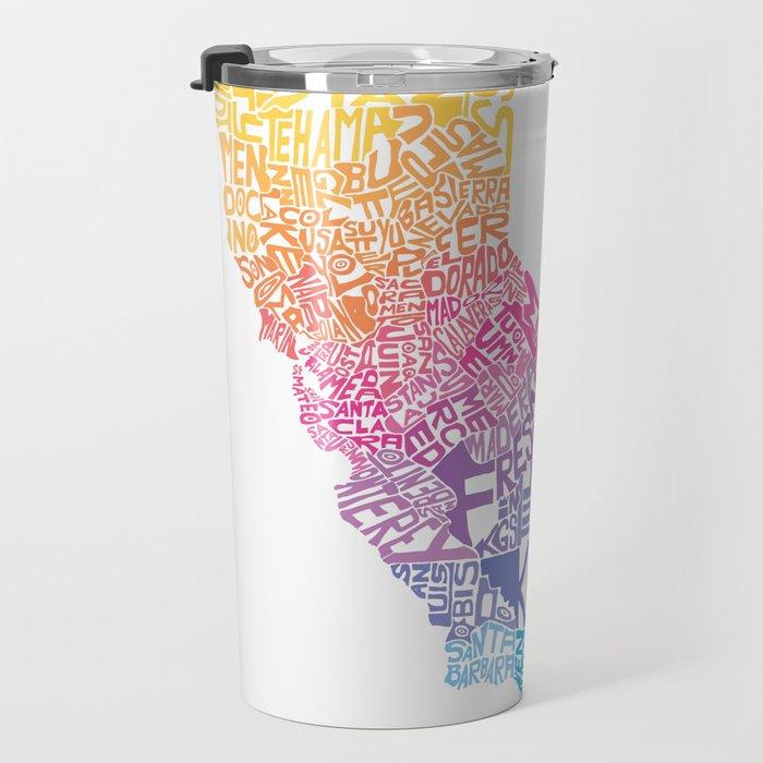 Typographic California - Springtime Travel Mug