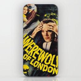 Werewolf of London, vintage horror movie poster 3 iPhone Skin