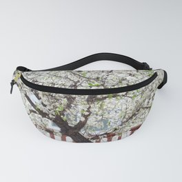 White Cherry Blossom Tree Fanny Pack
