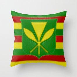 Fancy Flag:  Hawaii Kanaka Maoli Throw Pillow
