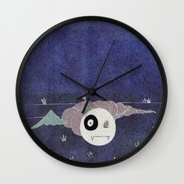 Toothworm by night Wall Clock