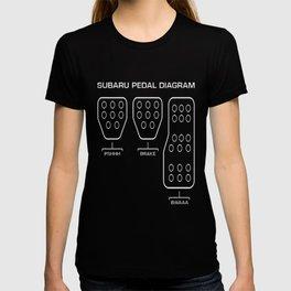 Subaru Pedal Diagram T-shirt