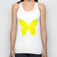 butterfly Tank Tops featuring Butterfly by Naked N Pieces