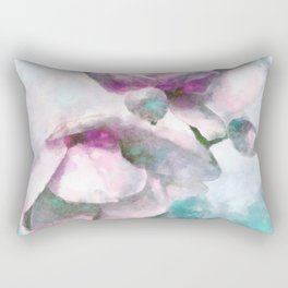 Impressionist Magnolias Rectangular Pillow
