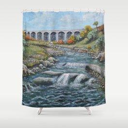 The Nine Arches, Tredegar Shower Curtain
