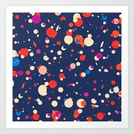 Spotty in blue Art Print