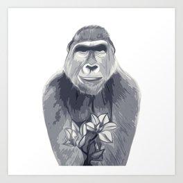 Friendly Ape Art Print