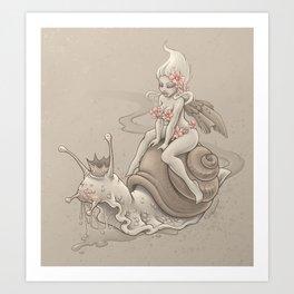 Snail Prince Art Print