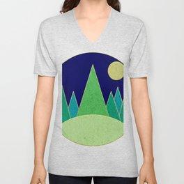 Dark Night Forest Unisex V-Neck