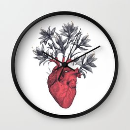 Blooming heart Wall Clock