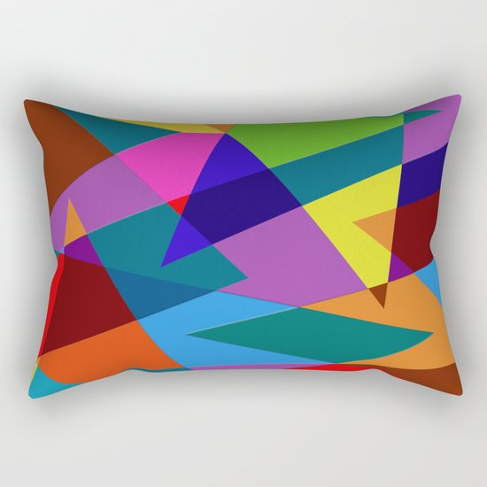 Abstract #342 Shapes & Colors Rectangular Pillow