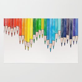 colored pencils Rug