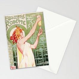 Absinthe Robette Poster- Henri Privat-Livemont Stationery Cards
