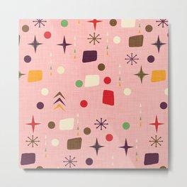 Atomic Pattern Pink Purple  #midcenturymodern Metal Print