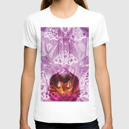 indian orchid Flower pattern Collage digital ART T-shirt