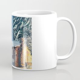 """Cabin In The Woods"" Log Cabin Original Art by Bryn Reynolds Coffee Mug"
