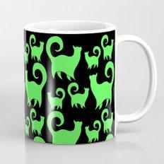 Green Snobby Cats Coffee Mug