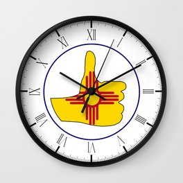 Thumbs Up New Mexico Wall Clock