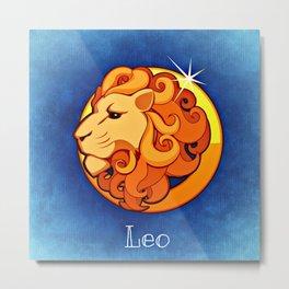 Zodiac_Sign_Lion Metal Print