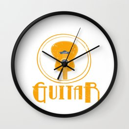 Just One More Guitar Accoustic Guitar Guitarist Bass Acoustic Wall Clock
