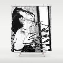 asc 778 - La lione blessée (Love is a killer) Shower Curtain