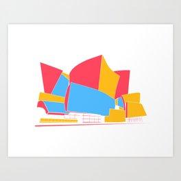 Concert Hall - Los Angeles - California - Frank Gehry Art Print