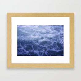 Blue Water Crashes at Lock 19 Framed Art Print
