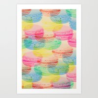 macaroon Art Prints featuring Macaroon Madness by Tyler Spangler