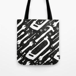 Black and White Tools Tote Bag