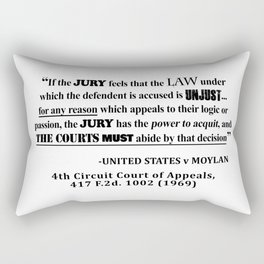 Jury Nullificaton Case Law Quote Rectangular Pillow
