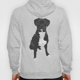 The Black & White Boxer Hoody