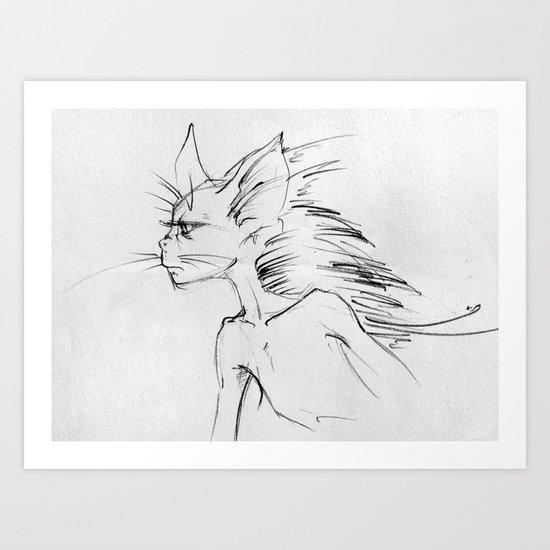 Cat-boy Art Print