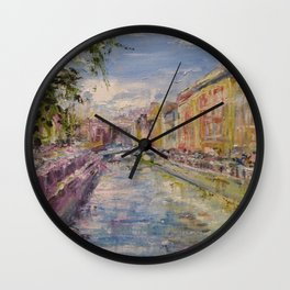 Painting Oil Realism Canvas Art Impressionism Landscape Painting Modern Office Decor Art Collection Wall Clock