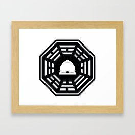 Dharma - Beehive Station (Black) Framed Art Print