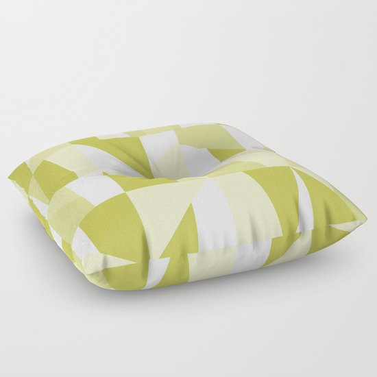 Green Floor Pillows : Geometric Green Pattern Floor Pillow by Oursunnycdays Society6