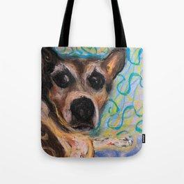 Concerned Terrier Tote Bag