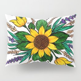 Zalipie Flowers Pillow Sham